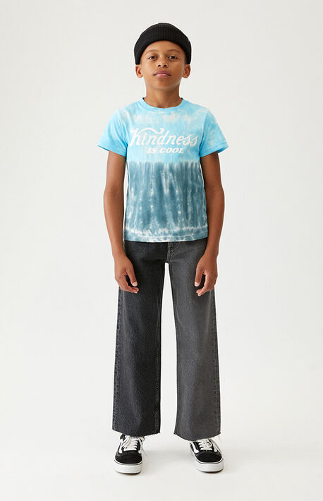 Two-Tone Gray Wide Leg Jeans