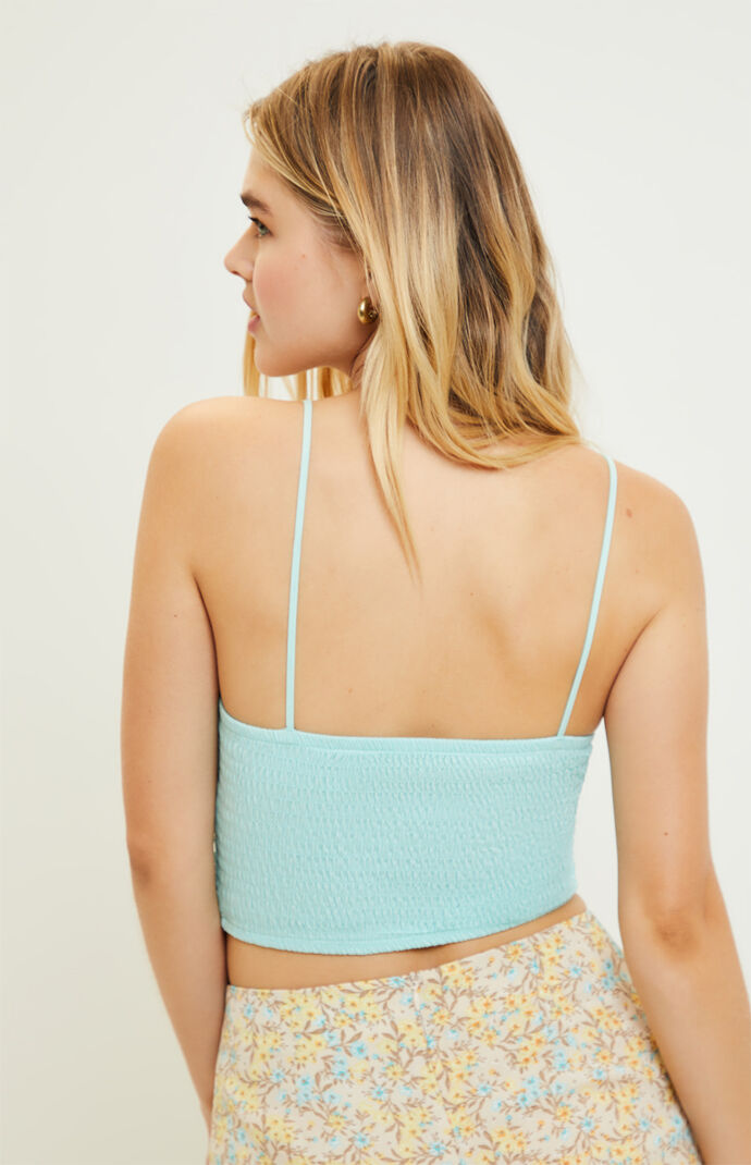 Smocked Cropped Cami Top
