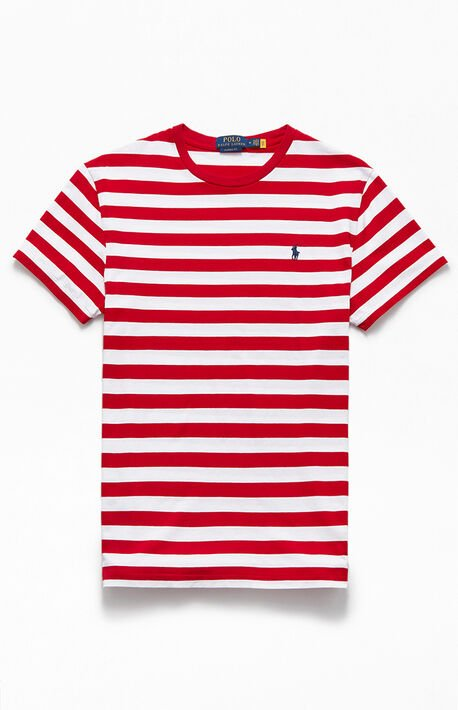 Red & White Striped Animated T-Shirt