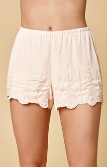 Blush Embroidered Soft Shorts