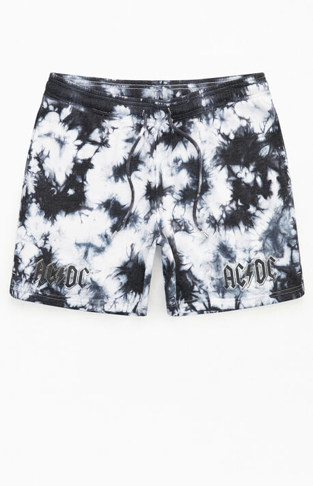 AC/DC Tie-Dyed Sweat Shorts