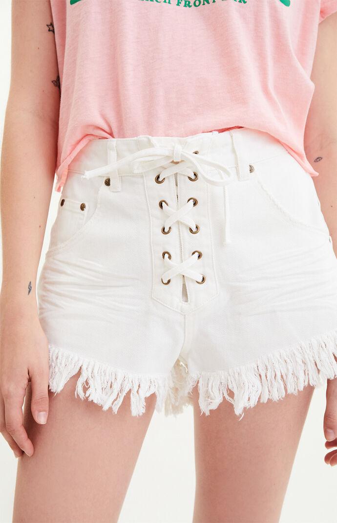 Far Away Lace-Up Shorts