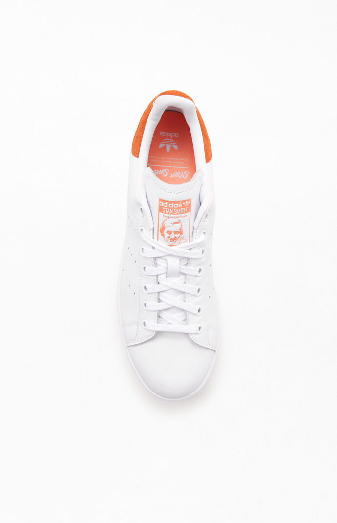 adidas White & Pink Stan Smith Shoes | PacSun