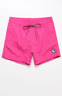 "Solid Pink 15"" Swim Trunks"