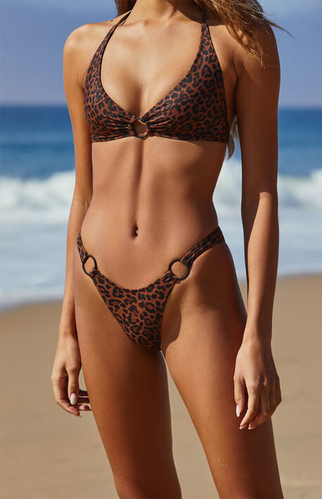 Animal Print Bali Ring Bikini Bottom
