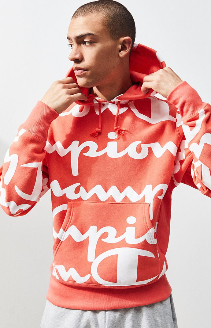 5e74f0bdfd8b Champion Reverse Weave All Over Print Pullover Hoodie