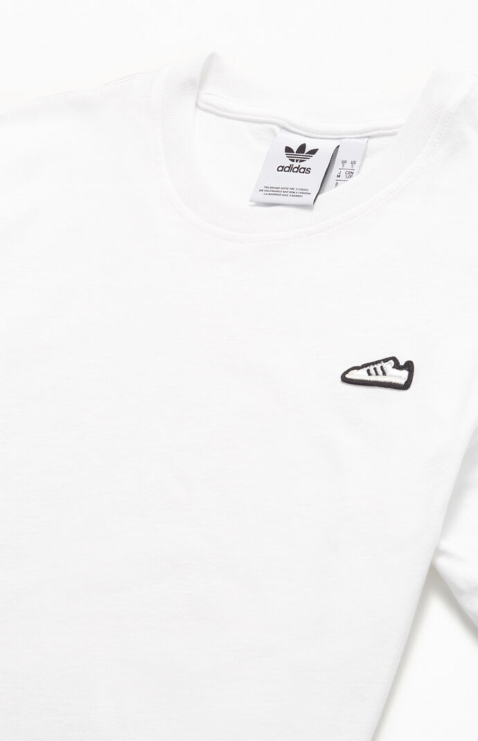 White Adicolor Embroidered T-Shirt