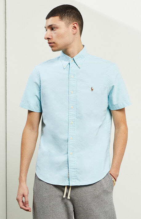 Classic Oxford Short Sleeve Button Up Shirt