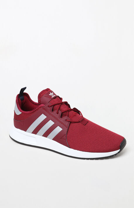 Puma Red and White Suede Classic Plus Shoes  5867f0a90