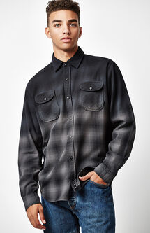 Sombrio Plaid Flannel Long Sleeve Button Up Shirt