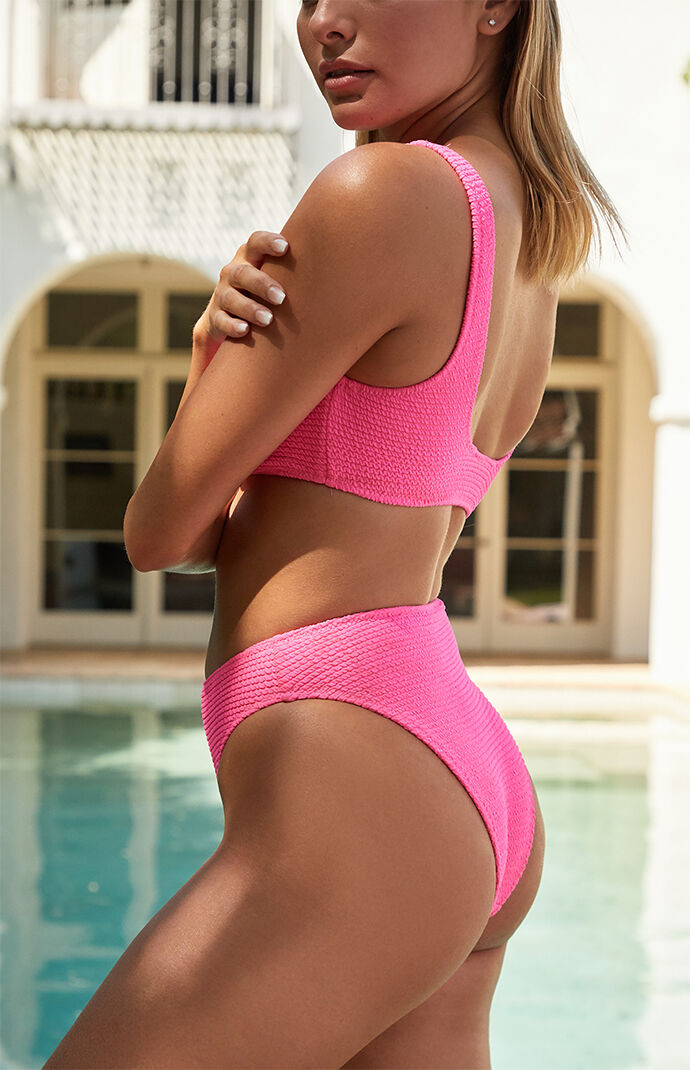 Kelsey Scrunch High Waisted Bikini Bottom