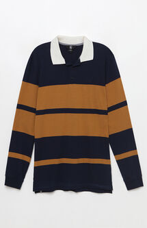 Tanner Striped Long Sleeve Polo Shirt