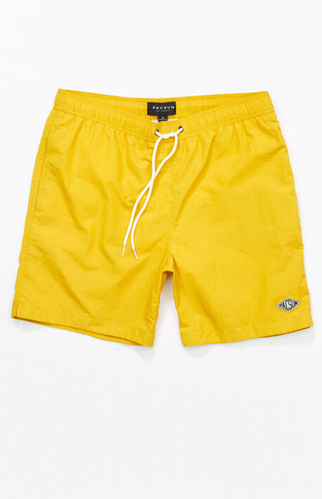 "b3b1b753c8 Solid 17"" Swim Trunks"