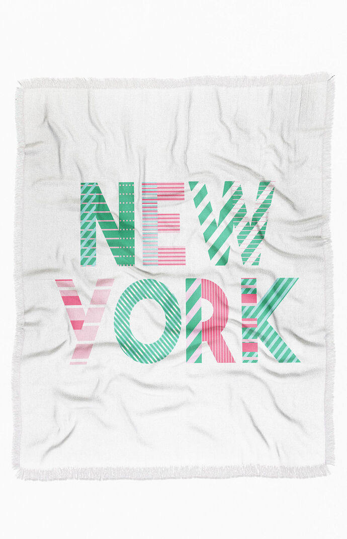 Cool Summer In The City Throw Blanket
