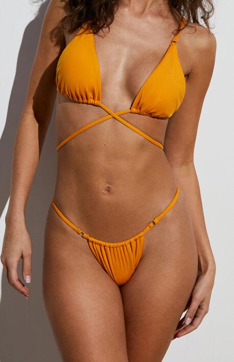 Orange Dawn Skimpy String Bikini Bottom