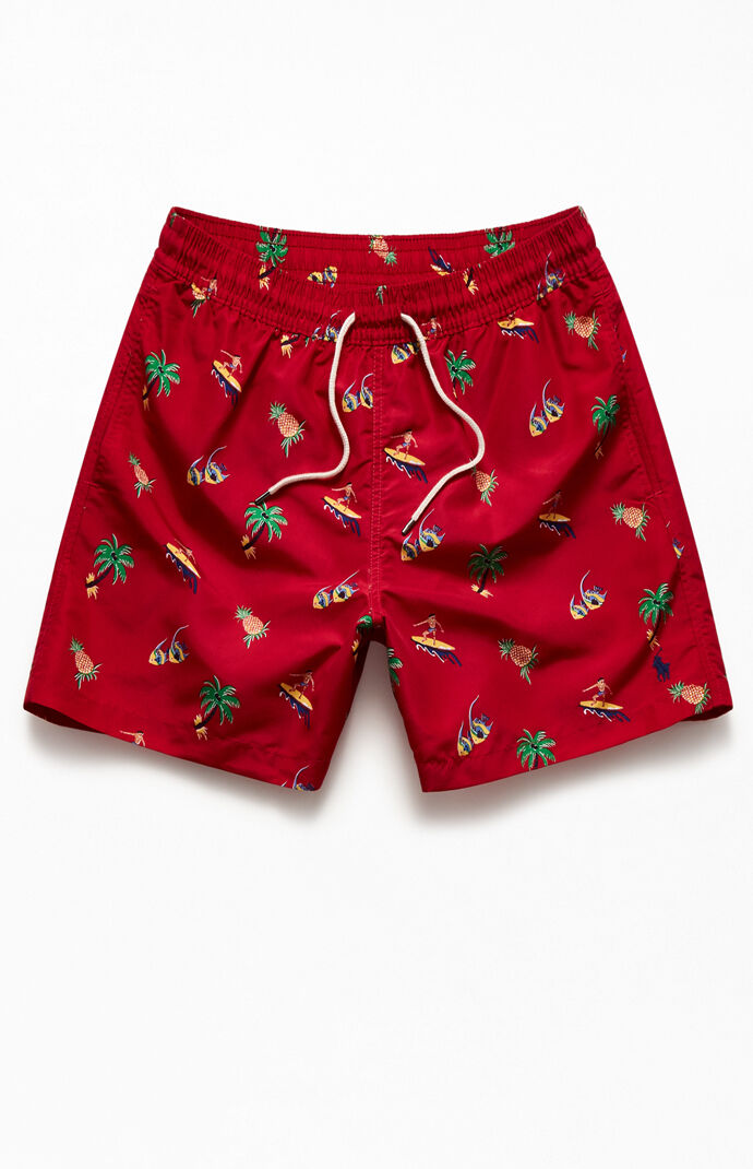 "Recycled Tropical 17"" Swim Trunks"