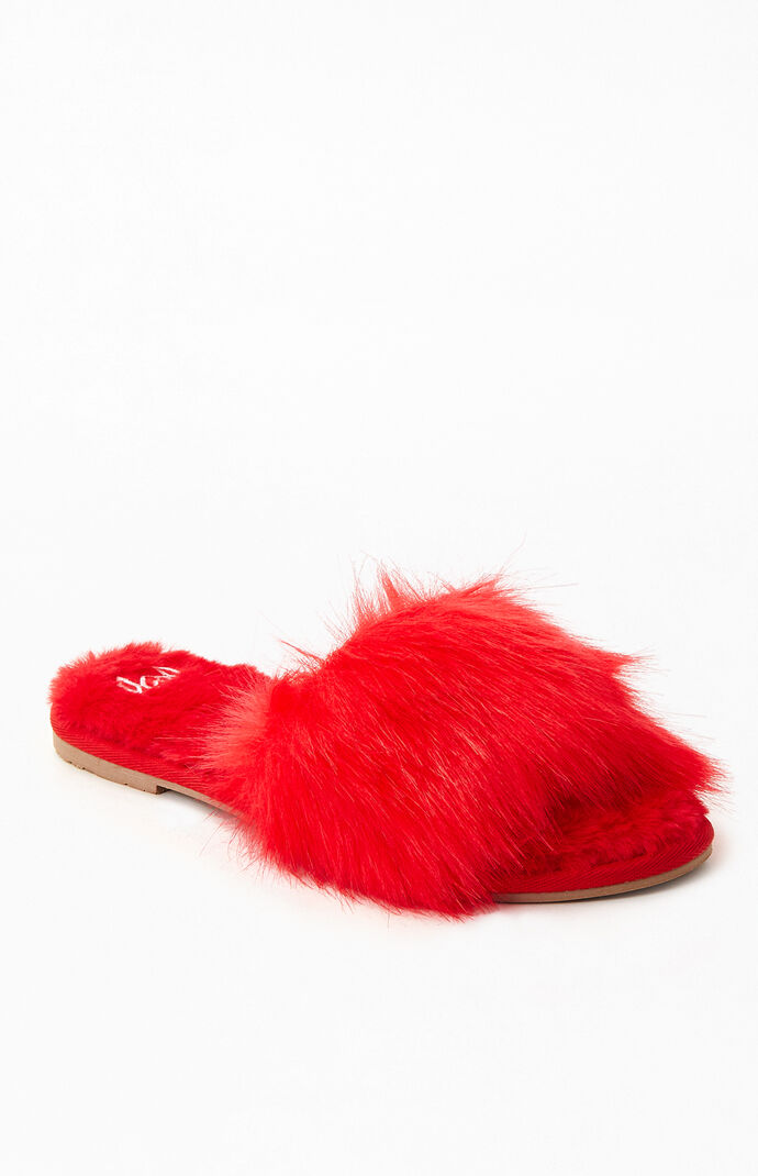 Women's Cupid Fuzzy Slippers