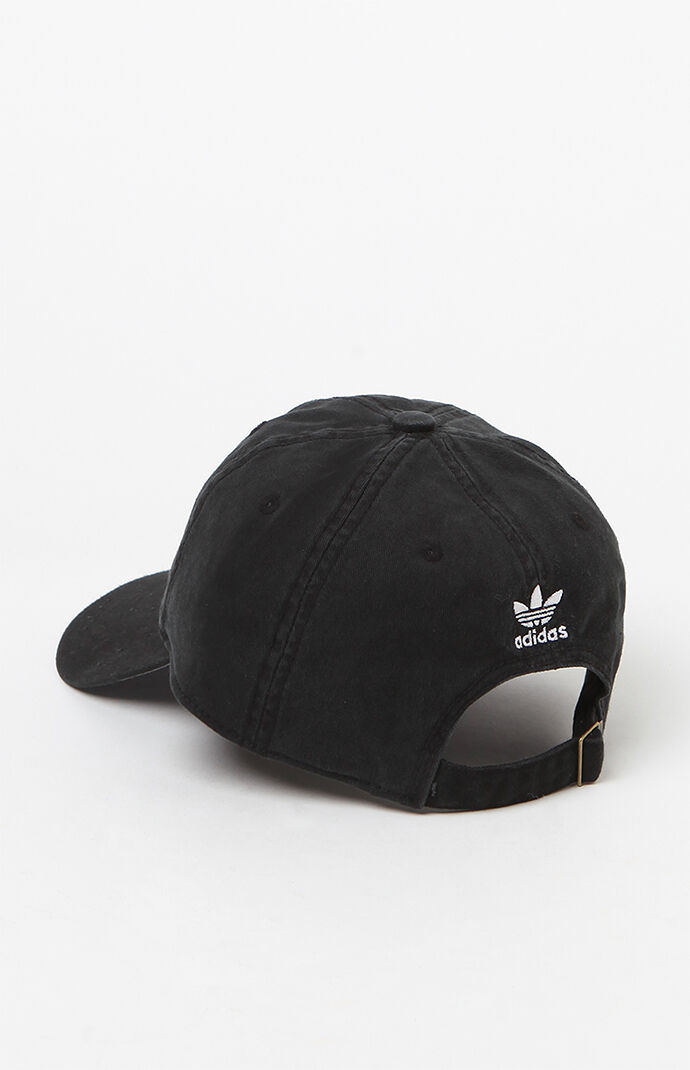 adidas Washed Black Strapback Dad Hat at PacSun.com 15d7f695290