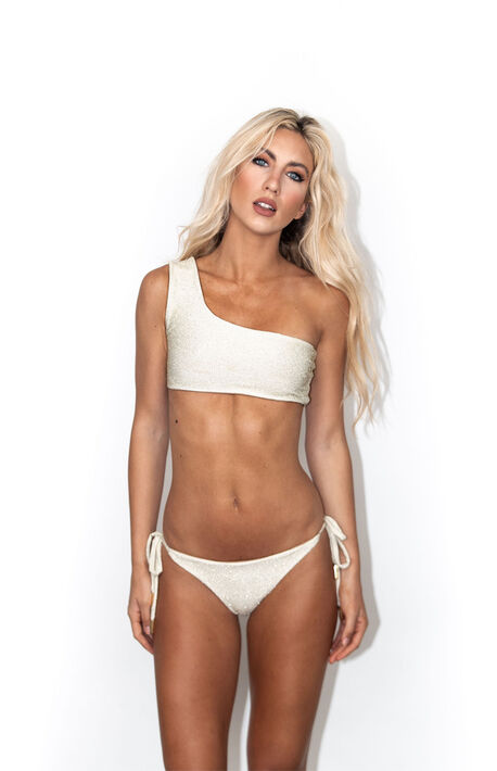 Gold Shimmer Side Tie Bikini Bottom