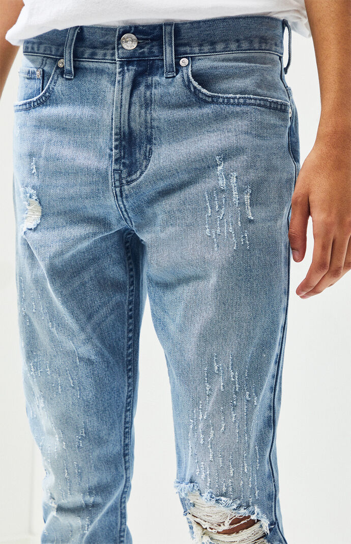 Destroy Light Stacked Skinny Jeans