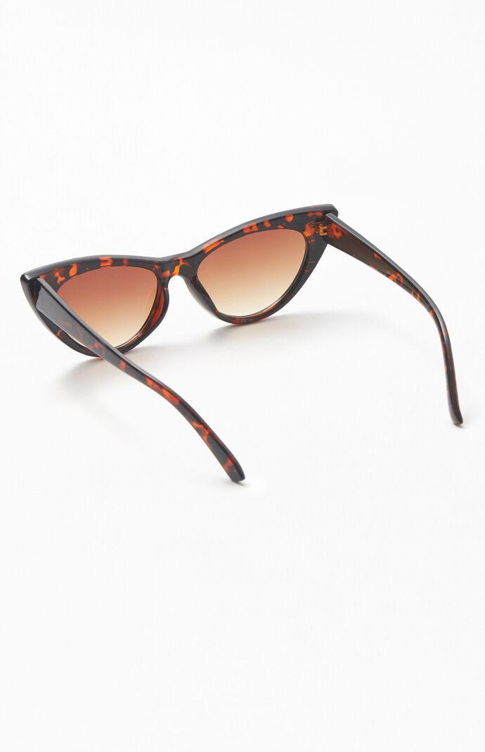 Tortoiseshell Starred Cat Eye Sunglasses