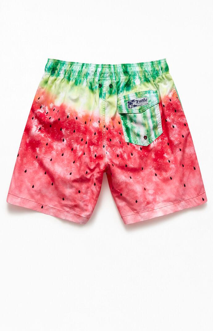 """Watermelon 17"""" Swim Trunks"""