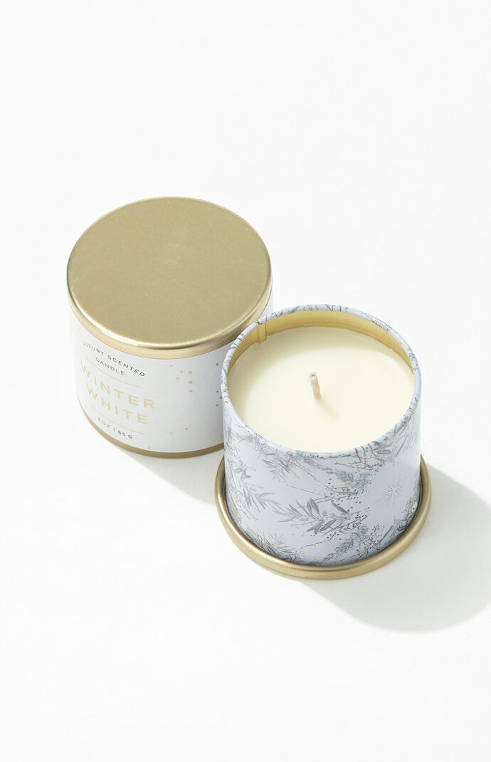 Winter White Candle Tin