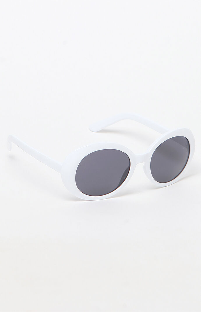 6192f6eedd PacSun Buggy Frame White Sunglasses at PacSun.com
