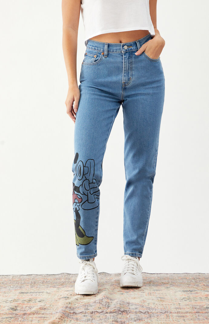 x Disney High Waisted Boyfriend Jeans
