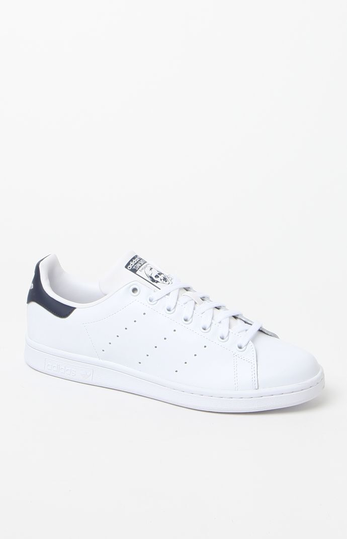 quality design 2fae6 a1ee9 adidas Stan Smith White and Blue Shoes at PacSun.com