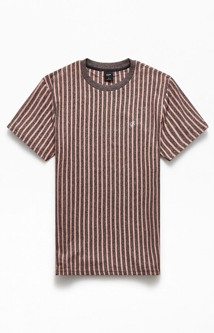 Overdyed Vertical Striped T-Shirt