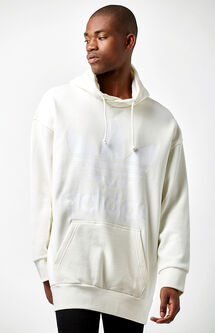 Fashion White Oversized Pullover Hoodie