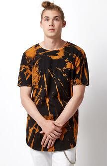 Bleach Splatter Scallop T-Shirt