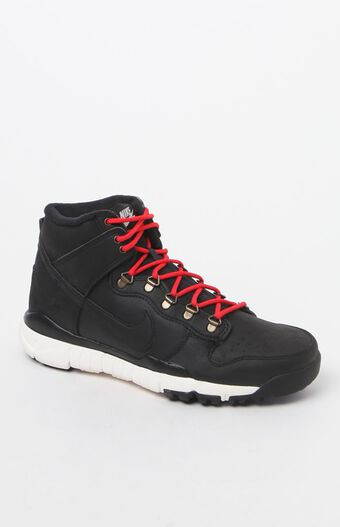 Nike Men's SB Dunk High R/R Shoes (Black & White)