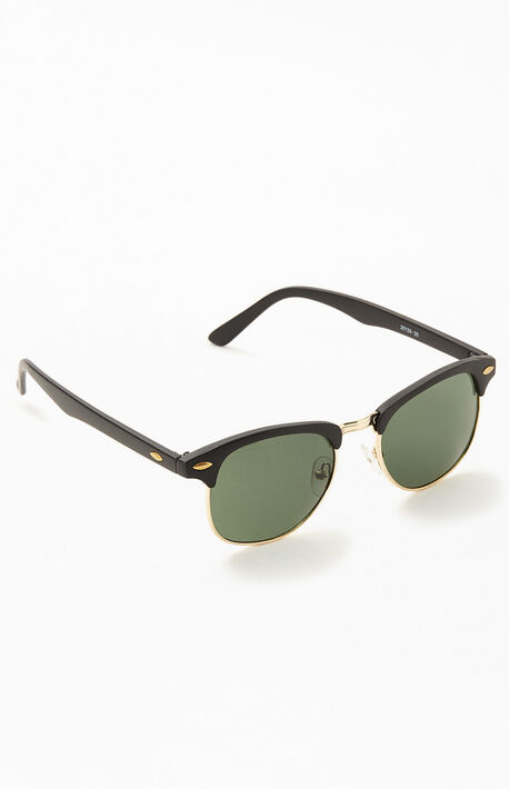 Black & Gold Small Metal 50Fifty Sunglasses