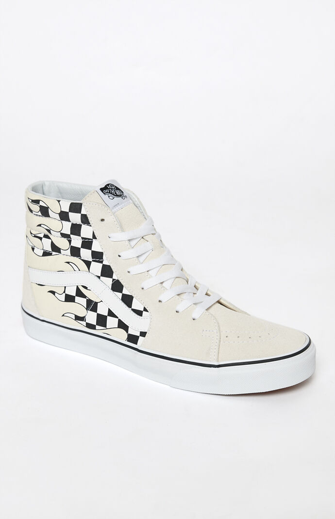 054ca7dcc4 Vans Checker Flame Sk8-Hi Shoes