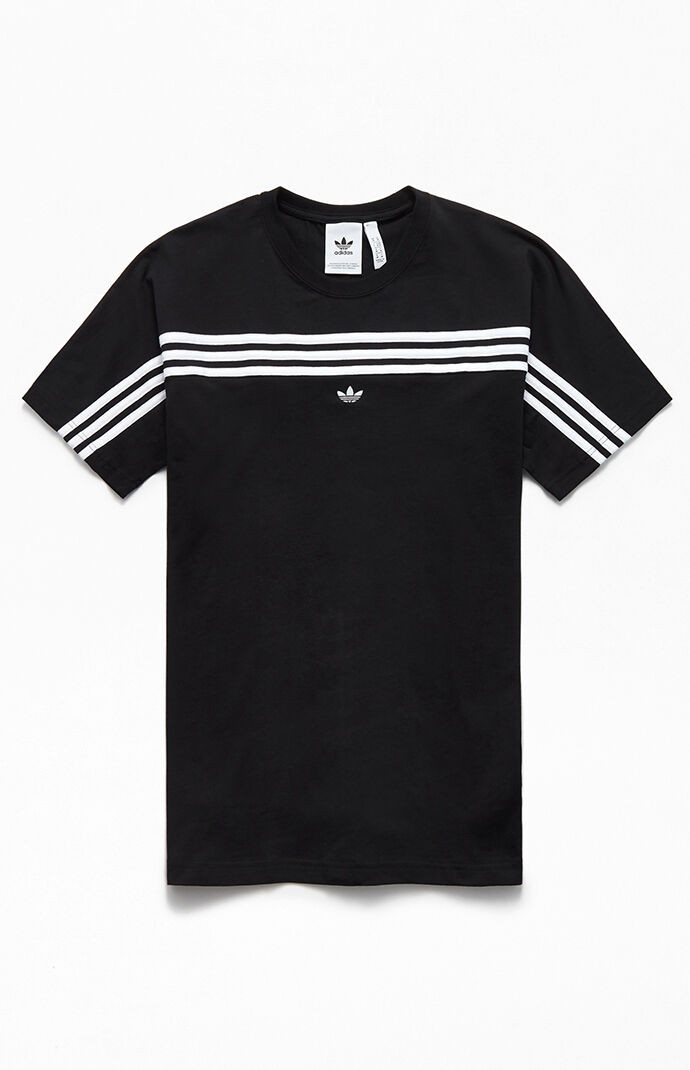 Black Front 3-Stripes T-Shirt