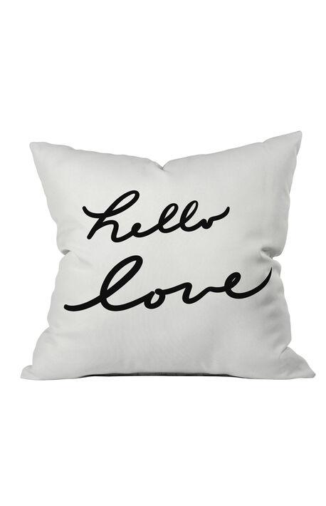 Hello Love Throw Pillow