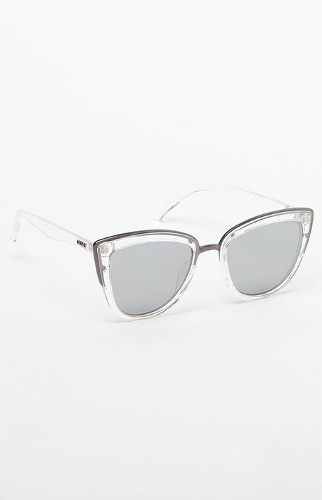 9756f473c14 My Girl Cat-Eye Clear  amp  Silver Sunglasses
