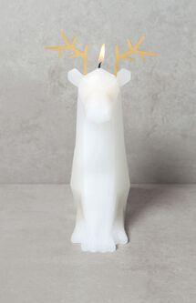 White Dýri Reindeer Candle
