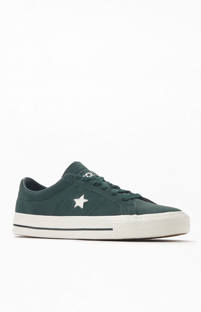 Converse Emerald One Star Pro Suede Shoes