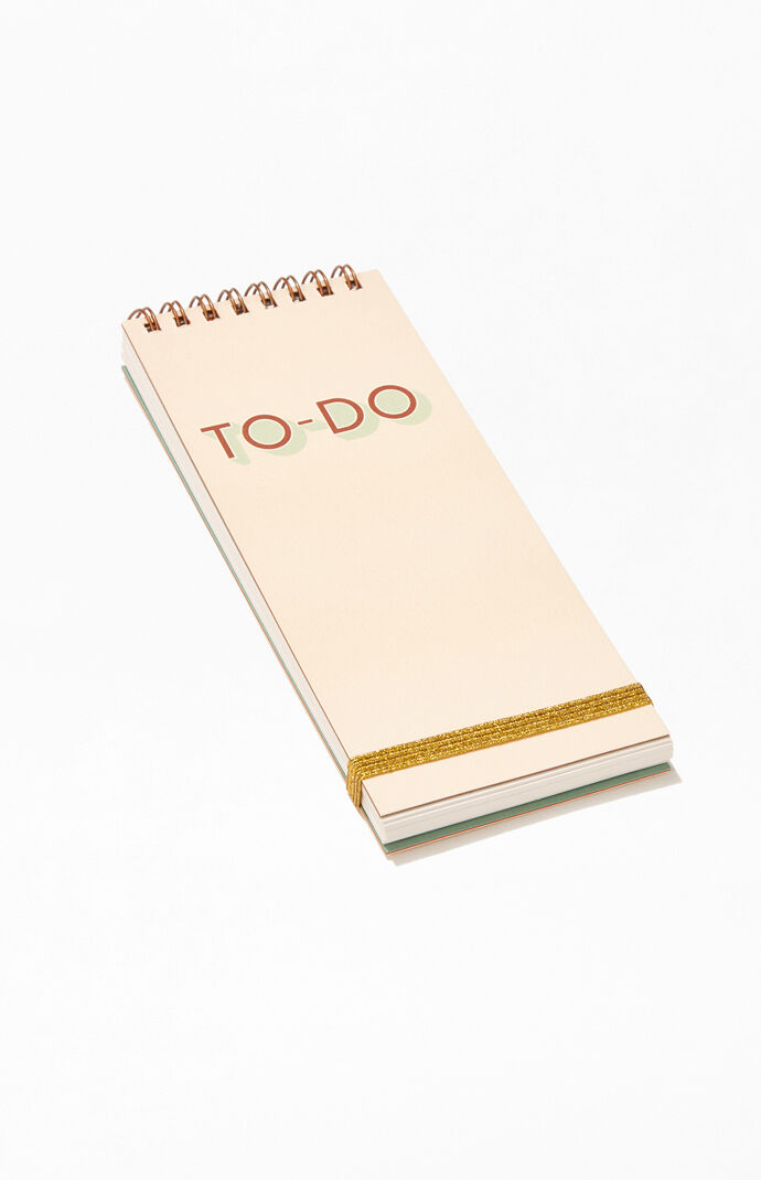 Peach To Do Notepad