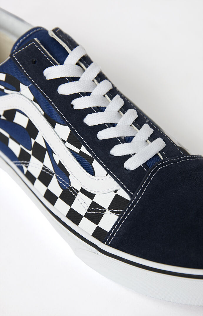 Vans Checker Flame Old Skool Shoes  46b7ab62c