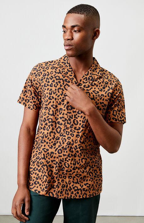 Wilder Animal Short Sleeve Button Up Shirt