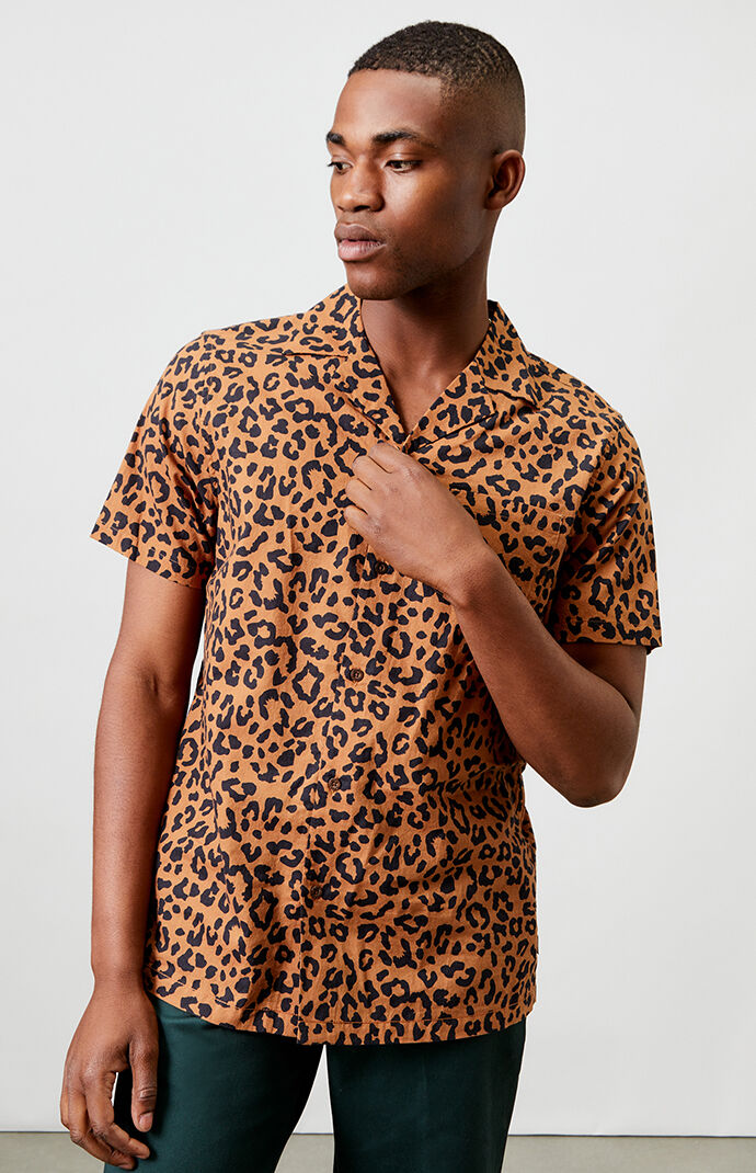 Wilder Animal Short Sleeve Button Up Shirt