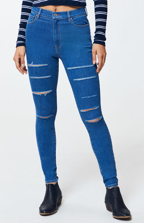 98a2265af89 Gregory Blue Super High Waisted Jeggings