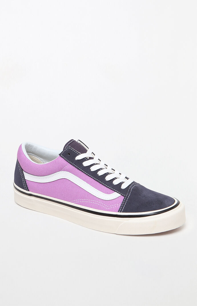 753079fb01 Vans Anaheim Factory Old Skool 36 DX Navy and Purple Shoes at PacSun.com