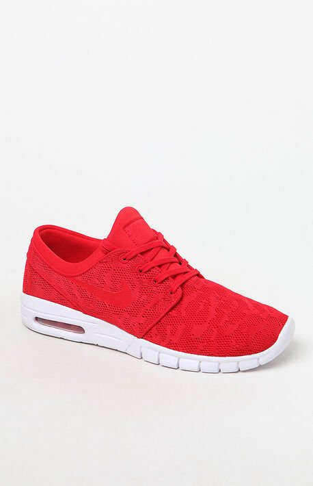 e494a53535b2 Stefan Janoski Max Red Shoes