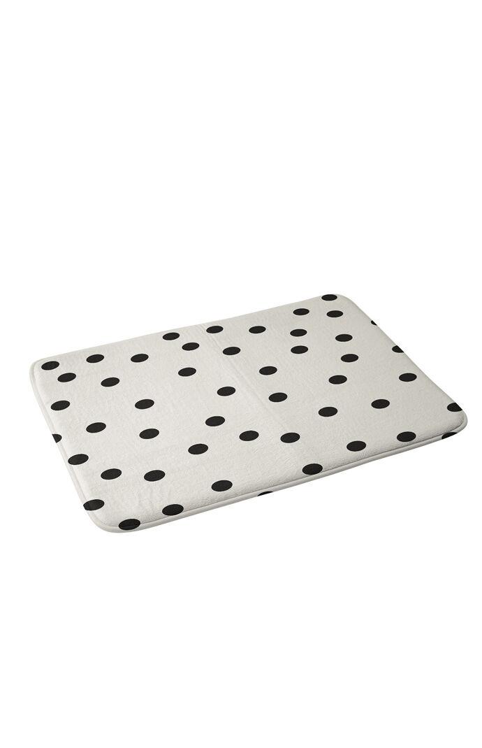 Deny Designs Womens Vintage Dots Black Memory Foam Bath Mat White Size 24 X 17 From Pacsun Ibt Shop