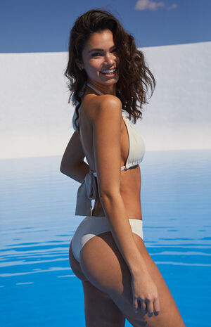 Eco Off White Isobel Triangle Bikini Top image number null
